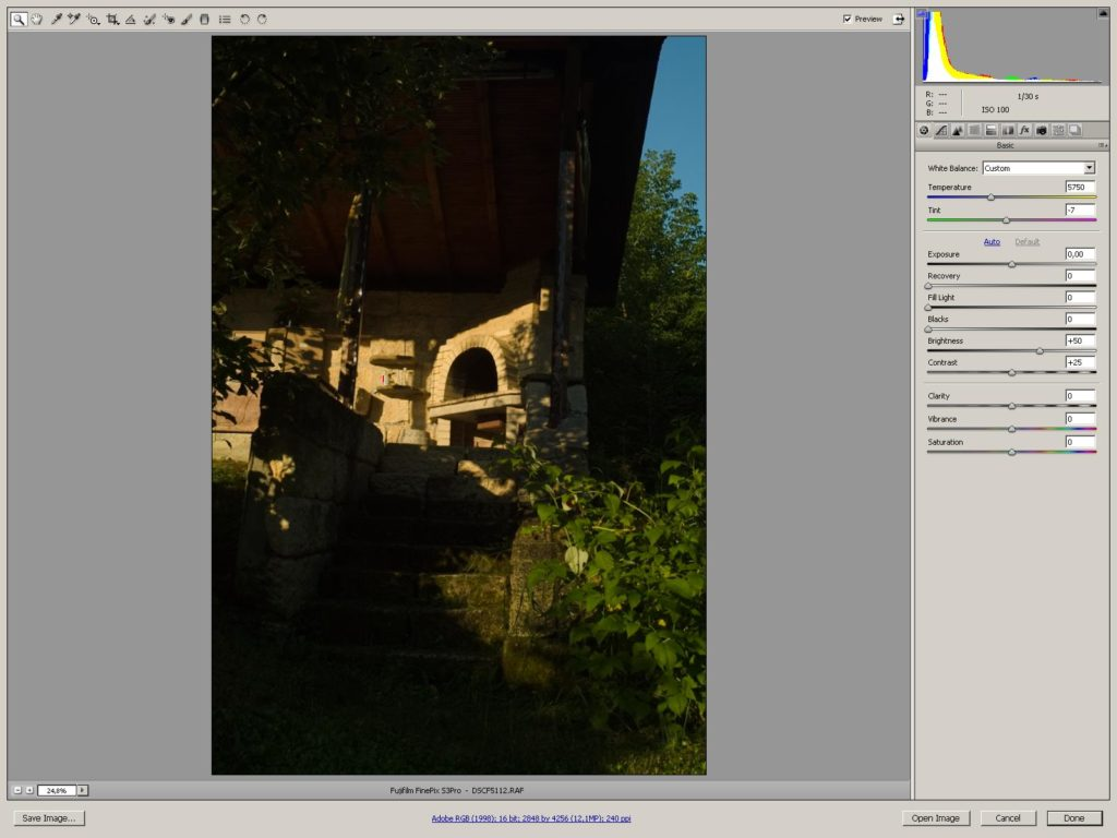 RAW обработка на снимки